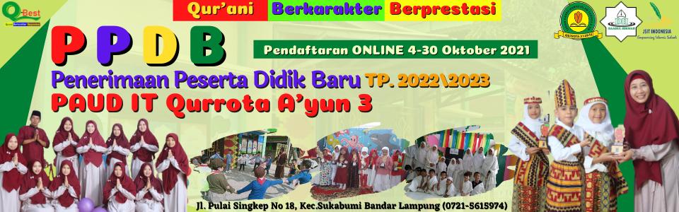 PPDB PAUDIT Qurrota Ayun III Bandar Lampung